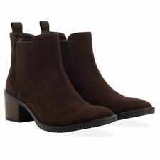 Redfoot Victoria Brown Ladies UK 4 Suede Ankle Chelsea Boots free shipping 00157