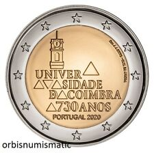 2020 PORTUGAL 2 EURO 730 YEARS COIMBRA UNIVERSITY UNC NEW COIN G341