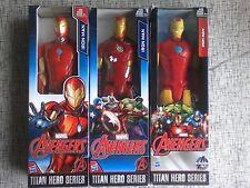 "Set of 3 Marvel Avengers Iron Man Titan Hero Series 12"" Superhero Action Figure"