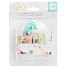 American Crafts We R Memory Keepers DIY Pom Pom Maker - 3 Piece Crafting Set