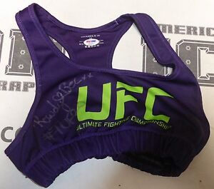 Rowdy Bec Rawlings Signed Personally Worn Used TUF 20 UFC Sports Bra Top PSA/DNA