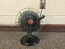 "VINTAGE GE GENERAL ELECTRIC 10"" FAN BLACK & RED DESK TOP OR HANGING WORKS"