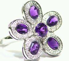 4.69CT 18K Gold Natural Round Cut White Diamond Stone Vintage Engagement Ring