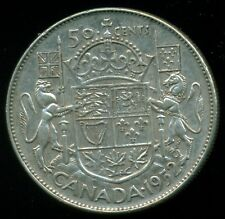 1952 Doubled HP Canada King George VI, Silver Fifty Cent Piece  L30