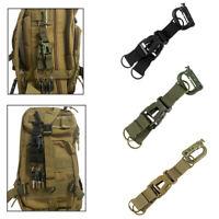 Tactical Molle Backpack Carabiner Shackle Keychain Holder Strap Belt Clip Hook