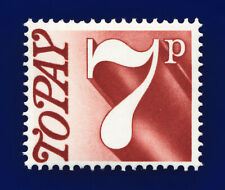 1974 SG D83 7p Red-Brown Spec Z69 Centred SW Pert Perfs Mounted Mint Hinge cihe