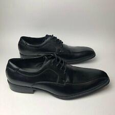 "Alfani Dress Shoes Men's 9 Black Leather Lace Up Oxford ""Seth"""