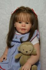 Reborn Baby Doll Girl Toddler Katie Marie by Ann Timmerman~Human hair Glass eyes