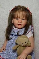 Reborn Baby Doll Girl Toddler Katie Marie by Ann Timmerman~Human hair Glass eyes