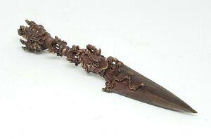 """6.75"""" Handcrafted Phurba Dorje - Tibetan Buddhist Ritual Copper Dagger ~ PRD-M"""