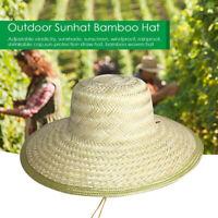 Chinesisch Orientalisch Vietnamesisch Stroh Bambus Sonnenhut Bauer Draußen