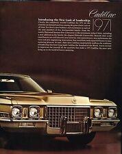 Big 1971 Cadillac Brochure / Catalog: Eldorado,60,Fleetwood 75,De Ville,Calais,