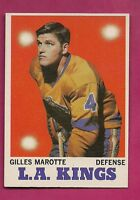 1970-71 TOPPS # 34 KINGS GILLES MAROTTE NRMT-MT CARD  (INV#3358)