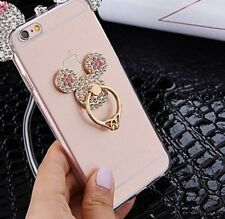 Universal 360 Rotating Finger Ring Stand Holder For Cell Phone - Crystal Stone