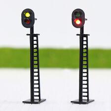 JTD03 5pcs Model Railway 2-Light Block Signal Green/Red HO Scale 6cm 12V Led New