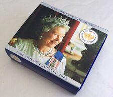 'Queen's Golden Jubilee' 2002 Silver Proof £5 Five Pound / Crown. Cased + COA.
