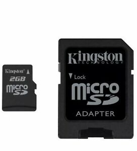 Kingston 2GB microSD Memory With Adapter