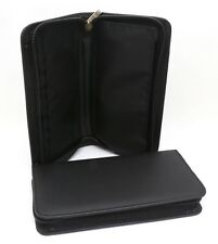 Bifold Black Large Long Zip-Around Polyurethane Wallet