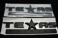 TEXAS EDITION EMBLEMS SET(2) 3D ABS MATTE BLACK FINISH