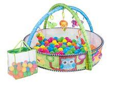 Krabbeldecke Spieldecke Spielbogen Spielmatte Babydecke Laufstall 3in1 50 Bälle