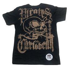 Disney Pirates Of The Caribbean Mens Sz S T-shirt Black EUC E