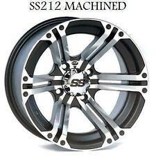 "Honda 420 650 680 Rancher Rincon 12"" ITP SS212 Machined Wheels"