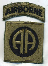 Early Vietnam Era US Army 82nd Airborne Subdued Patch W/Tab Cut Edge