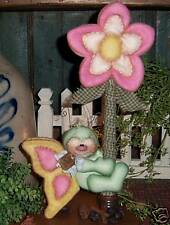 Primitive Flower Garden Butterfly Bug Doll Paper Pattern 458