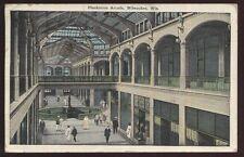 Postcard MILWAUKEE Wisconsin/WI  Plankinton Arcade Interior view 1910's?