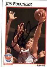1991-92 HOOPS #133 JUD BUECHLER NETS SIGNED JSA AUTO