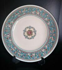 Wedgwood porcelain Turquoise Florentine Salad plate pristine condition W2714