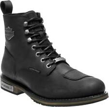 Mens Motorcycle BOOTS Size 12 Side Zip and Lace up Harley Davidson