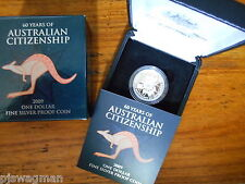"2012 $1 Silver Proof "" Australian Citizenship Silver Dollar"" In Ram Box of Issue"