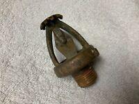 """ANTIQUE VINTAGE GRINNELL 1912 155 """"A"""" FRAME BRASS FIRE SPRINKLER HEAD"""