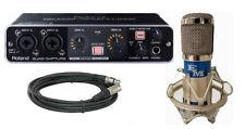 Roland UA-55 Quad-Capture with EM-1A Condenser Mic & Cable New
