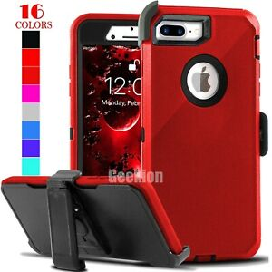 For iPhone 6 6s 7 8 Plus Shockproof Case Cover w/ Belt Clip + Screen Protector