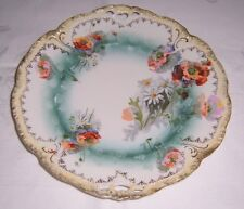 Hand Painted Poppy Motif Plate - C2765