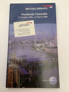 British Airways Worldwide Timetable Oct 2009 - Mar 2000 - Concorde seat plan