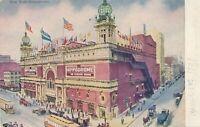 NEW YORK CITY - New York Hippodrome Glitter Covered Postcard - udb (pre 1908)