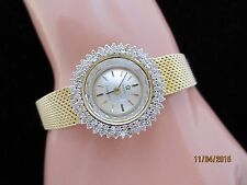 OMEGA WATCH SOLID GOLD.65 CT DIAMOND WATCH BEAUTIFUL OMEGA GOLD DIAMOND  WATCH