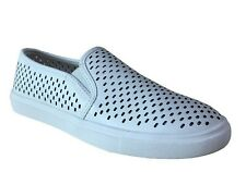 WHITE Womens Time And Tru Perferated Twin Gore Slip On Shoe - You Pick Size SALE