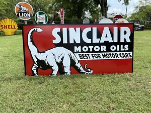 Antique Vintage Old Style Sinclair Motor Oil Sign