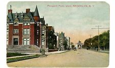 Brooklyn Nyc Ny - Prospect Park Avenue Houses Looking West - Postcard