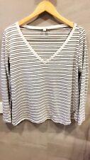 Kookai Stripe Long Sleeve Jersey Top 9f9a1746a
