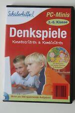 Schülerhilfe Denkspiele 3.-6. Klasse PC - Minis CD-ROM