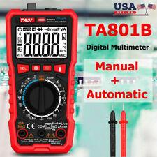 Digital Multimeter Meter Amp Ohm Voltmeter Auto/Manual Range Volt Tester AC DC