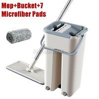 Magique Auto Mop Balai+Seau Clean+7X Chiffon en Microfibre Filant Kit Cadeau  +A