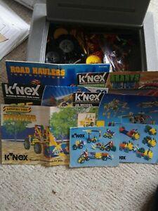 K'NEX 7 sets instructions parts grey hard case. K'nexosaurus Vehicles