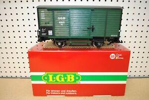 LGB 41352 (4135S) Green Box Car w/Steam Sound & Metal Wheels *G-Scale*