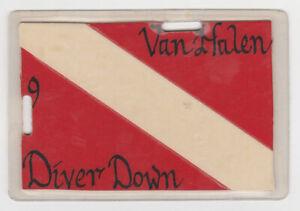 VAN HALEN Diver Down 1982 Concert Tour Laminate Backstage Pass